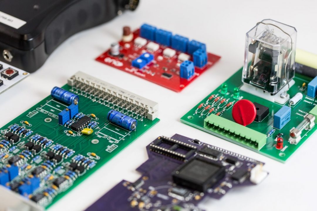 close up of circuit boards for reverse engineering