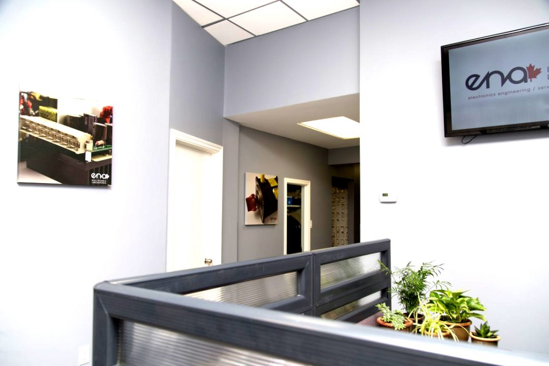 front office entranceway with a divider wall