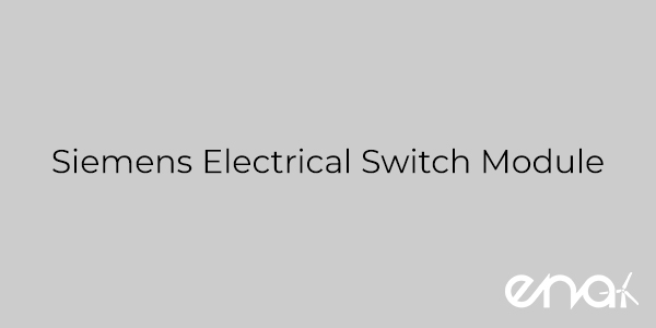 Siemens Electrical Switch Module